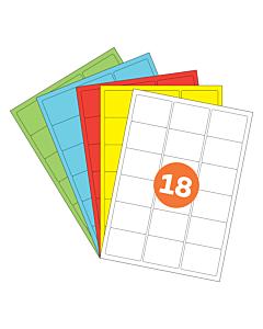 A4 Label Sheets 18 Labels Per Sheet 64x47mm