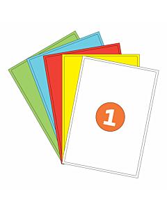 A4 Sheet Labels 1 Label Per Sheet
