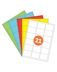 A4 Label Sheets 21 Labels Per Sheet 64x38mm