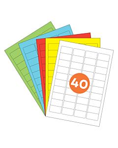 A4 Label Sheets 40 Labels Per Sheet 46x25mm