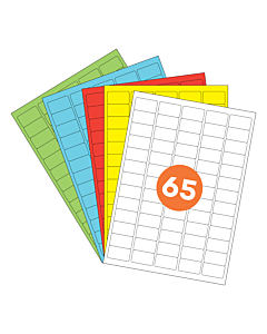 A4 Label Sheets 65 Labels Per Sheet 38x21mm