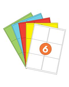A4 Label Sheets 6 Labels Per Sheet 93x99mm