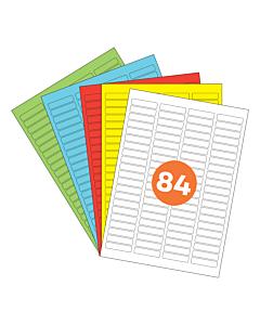 A4 Label Sheets 84 Labels Per Sheet 46x11mm