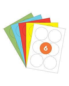 A4 Label Sheets 6 Labels Per Sheet 85mm Diameter
