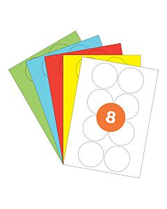 A4 Label Sheets 8 Labels Per Sheet 69mm Diameter