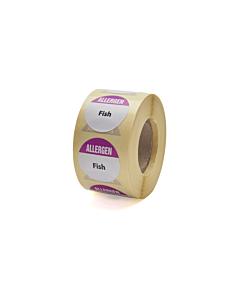 Allergen Fish Labels 25mm Permanent