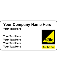 Gas Safe Boiler Service Stickers 63x33mm