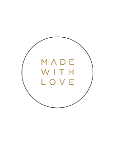 Made With Love Gold Stickers 40mm