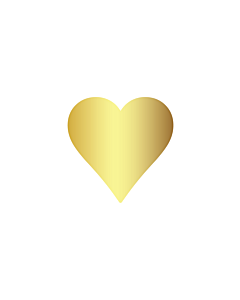 Gold Heart Stickers 15x15mm
