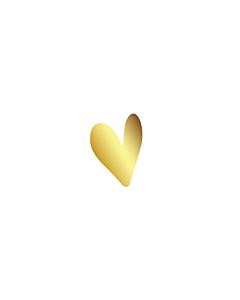 Gold Heart Stickers 5x7mm