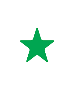 Green Star Shaped Stickers 20mm