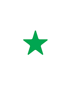 Green Star Shaped Stickers 10mm