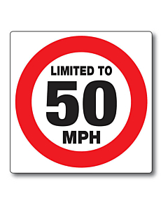 Limited to 50mph Stickers