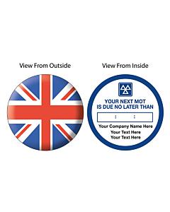 Personalised MOT Expiry Window Stickers 50mm