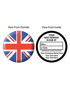 Personalised Next Service Due Window Stickers 50mm