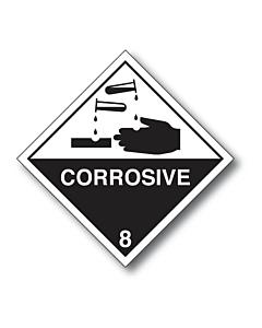 Corrosive 8 Black Hand Labels