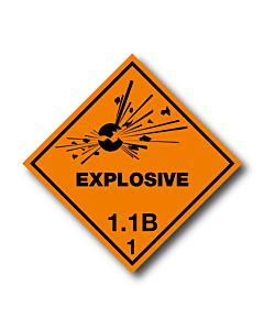 Explosive 1.1B Labels