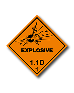 Explosive 1.1D Labels