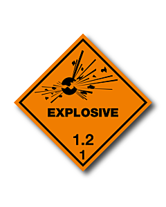 Explosive 1.2 Labels