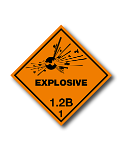 Explosive 1.2B Labels
