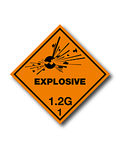 Explosive 1.2G Labels
