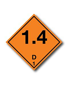 Explosive 1.4D Labels