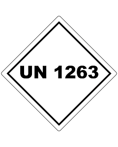 UN 1263 Labels 100x100mm