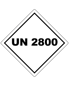 UN 2800 Labels 100x100mm