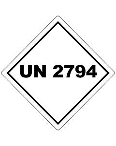 UN 2794 Labels 100x100mm