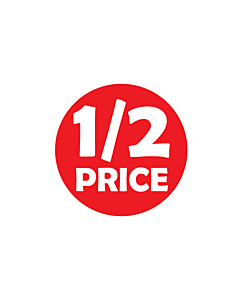 1/2 Price Stickers