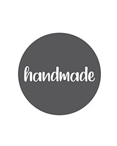 Grey Handmade Stickers 30mm
