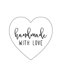 Handmade with Love Stickers 30mm