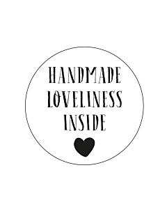 Handmade Loveliness Inside Stickers 30mm