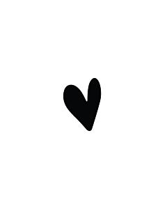 Black Heart Stickers 5x7mm