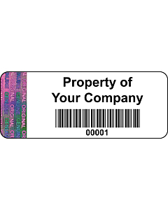 Personalised Tamper Evident Asset Labels 50x20mm