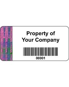 Personalised Tamper Evident Asset Labels 50x25mm