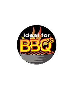 Ideal for BBQs Stickers