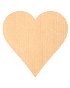 Kraft Paper Heart Stickers 43x43mm