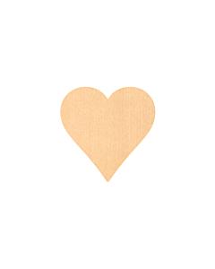 Kraft Heart Stickers 15x15mm