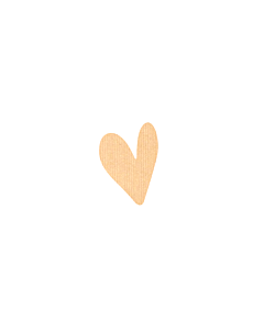 Kraft Heart Stickers 5x7mm