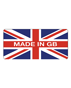 Made in GB Stickers 25x15mm