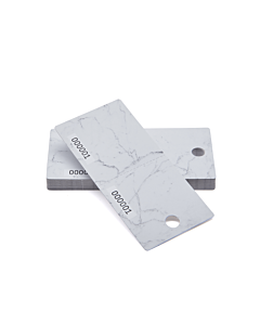 Marble Effect Cloakroom Tags