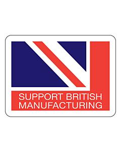 Support British Manufacturing Stickers 45x33mm