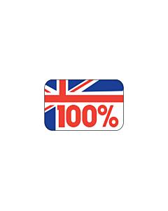 100% British Stickers