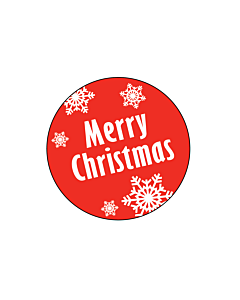 Merry Christmas Stickers 30mm