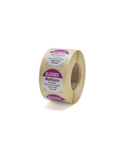 Allergen Molluscs Labels 25mm Permanent