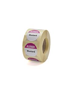 Allergen Mustard Labels 25mm Permanent