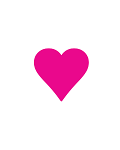 Neon Pink Heart Stickers 15x15mm