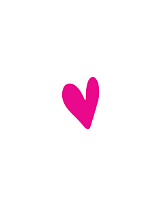 Neon Pink Heart Stickers 5x7mm