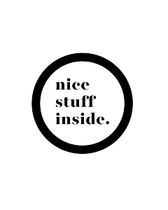 Nice Stuff Inside Stickers 40mm